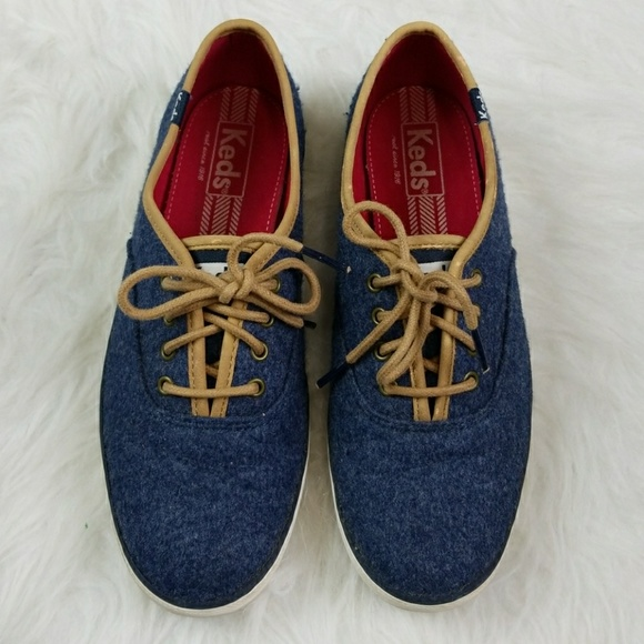 79bfaf88f8a Keds Shoes - Keds Champion blue felt Oxford sneaker